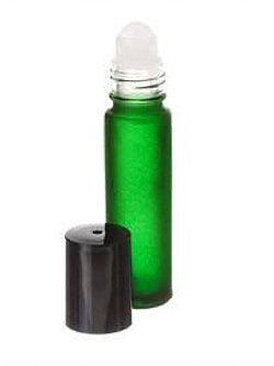 5ml Green Glass Roll-on Bottle with Black Cap