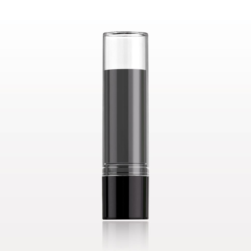 Lipstick Tube, Shiny Black with Clear Cap